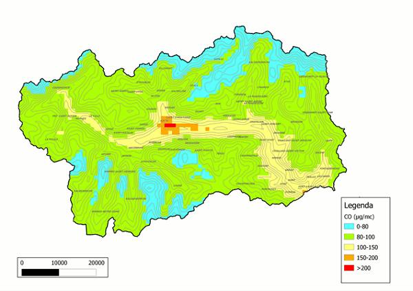 Valle D Aosta Cartina Tematica.Rsa2011 Ter Inq 009 Livelli Di Esposizione Della Popolazione A Inquinamento Dell Aria