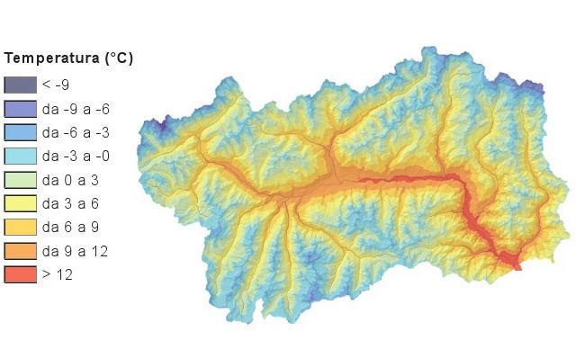 Valle D Aosta Cartina Tematica.Rsa2013 Temperatura Dell Aria Amb Atm 002