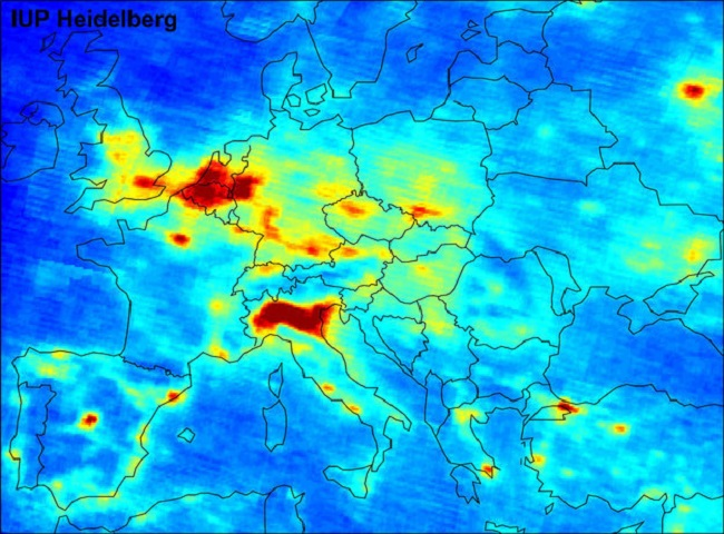 Inquinamento da NOx in Europa-Global air pollution map produced by Envisat's SCIAMACHYid